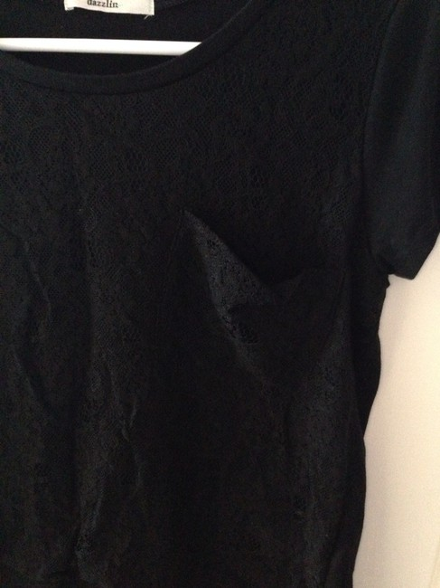 Other T Shirt Black Lace