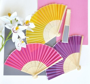 Event Blossom Yellow Paper Hand Fans Reception Decoration