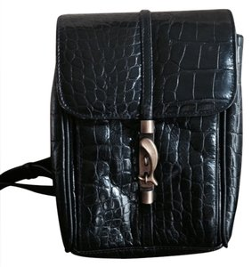 Ellen Tracy Leather Adjustable Strap Cross Body Bag
