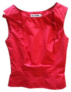 Jil Sander Cotton Retro 1950s Top Red