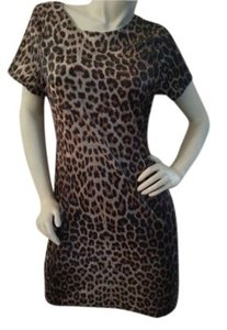 SENSE USA short dress Browns & Black...animal print on Tradesy