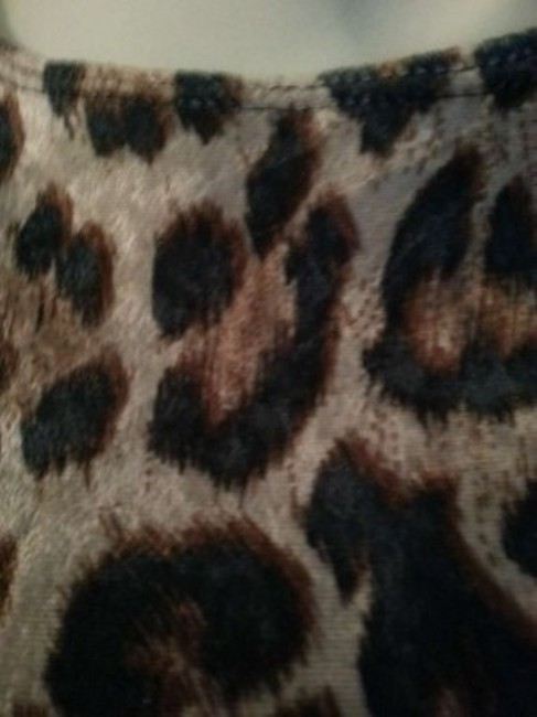 SENSE USA short dress Browns & Black...animal print Animal Lepard Jaguar Cat Comfortable on Tradesy Image 2