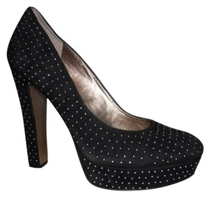 BCBGeneration Suede Studded black & silver Platforms