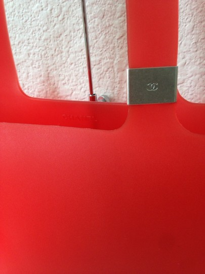 Chanel Red Beach Pvc Tote