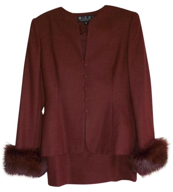 Preload https://item4.tradesy.com/images/bicci-florine-wachter-fitted-peplum-jacket-self-covered-buttons-faux-fur-cuffs-knee-length-skirt-1271148-0-0.jpg?width=400&height=650
