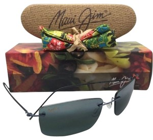 Maui Jim New Rimless MAUI JIM Sunglasses SANDHILL MJ 715-06 Gunmetal Blue Frame w/ Polarized Grey Lenses