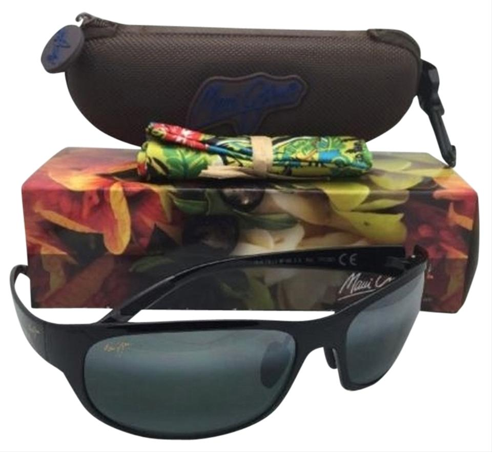 0193130dbf55 Maui Jim Polarized MAUI JIM Sunglasses TWIN FALLS MJ 417-02J Black Frames  w  ...