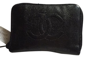 Chanel Chanel Black Vintage Caviar leather wallet