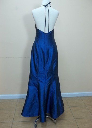 Impression Bridal Indigo Taffeta 1701 Formal Bridesmaid/Mob Dress Size 10 (M)
