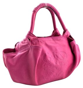 Loewe Soft Lambskin Chic Tote in Pink