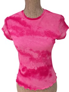 Other Tie Dye Tie Dye Sheer Sheer Size Small Size Small Casual Casual Dressy Dressy Summer Summer Spring Top Hot Pink