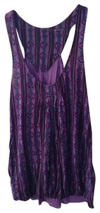 Ecote Top Purple patterned