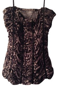 Ruched Corset Top snakeskin print