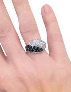 HSN Absolute CZ Absolute Black and White Sterling Silver CZ ring