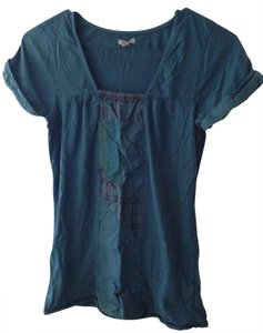 Ecote T Shirt Blue Plaid