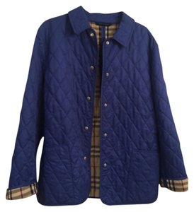 Authentic Blue Burberry jacket size M (8-10)- good condition Blue Jacket