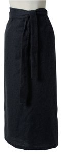 Max Mara Mohair Wrap Skirt Gray