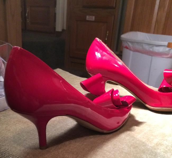 Item - Red Coture Bow Pump Formal Shoes Size US 7.5