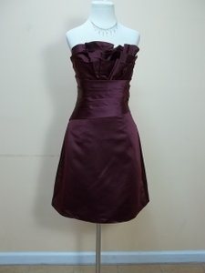 Impression Bridal Bordeaux Satin 20072 Formal Bridesmaid/Mob Dress Size 12 (L)