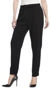 Kate Spade Bow Waist Viscose Relaxed Pants Black