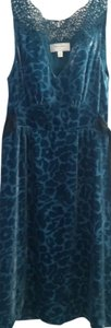 Anthropologie Animal Silk Sleeveless Crochet Lace Dress