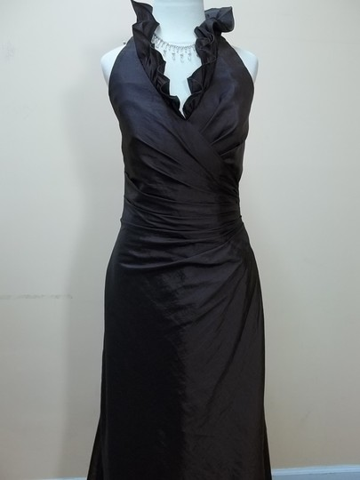 Impression Bridal Espresso 20074 Formal Bridesmaid/Mob Dress Size 14 (L)