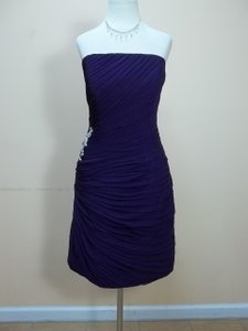Impression Bridal Eggplant Chiffon 20104 Formal Bridesmaid/Mob Dress Size 12 (L)