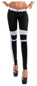 Koucla Contrast Skinny Pants White and black