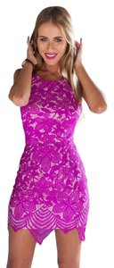 Other short dress Pink or blue Lace on Tradesy