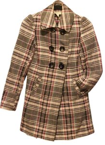 American Rag White Black Jacket Fw Plaid Pink Grey Pea Coat