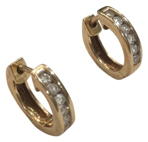 Gold Hoop Diamond Earings Diamond Hoop Earings