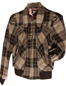 Forever 21 Peacoat Coat Fw Plaid Grey Jacket