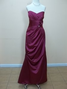 Impression Bridal Plum Satin 20108 Formal Bridesmaid/Mob Dress Size 14 (L)