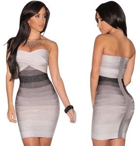 Hot Miami Styles short dress Multicolored Purple Sexy Colorful on Tradesy