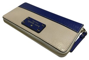 Kate Spade Kate Spade Wellesley Neda Clutch Wallet WLRU1153 Pebble/Hyacinth (187) Leather