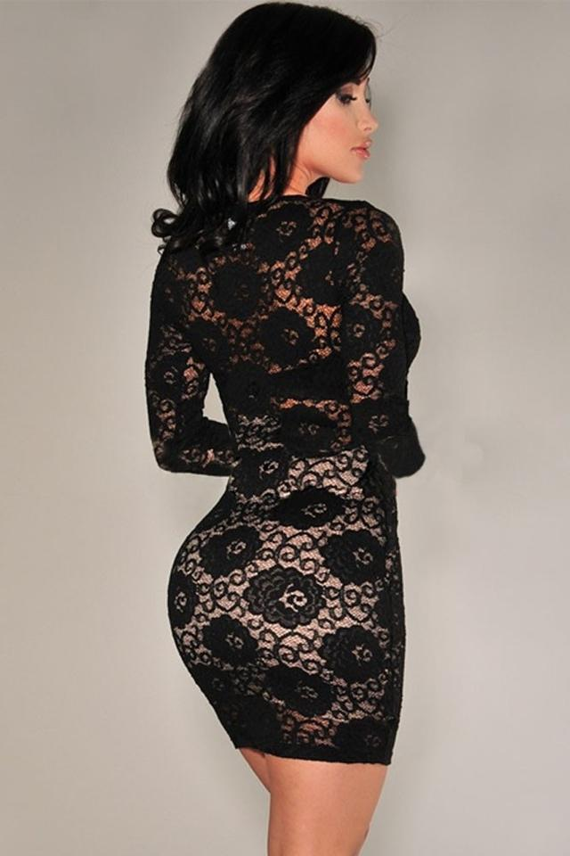 Hot Miami Styles White Or Black Lace Sexy Summer Spring Mini ...