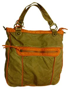 Poppie Jones Many Moods Of Soft Leather Satchel in Brown and Orange