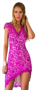 short dress Purple New Pink Spring Summer Lace on Tradesy