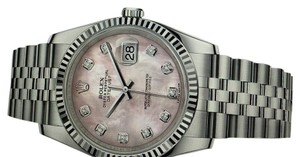 Rolex Unisex Rolex Oyster Perpetual Datejust Watch with Diamonds