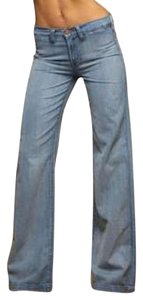 Anlo Wide Cottom Flare Leg Jeans-Light Wash