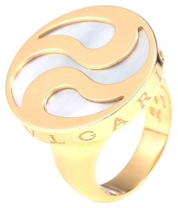 BVLGARI BVLGARI 18K YELLOW GOLD CONCH RING SIZE55 (7.25)