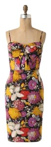 Mounlinette Soeurs short dress floral multi color Date Night Shift Summer Party Strapless Strappy Sweetheart Pockets Dry Clean Zip Removable Straps on Tradesy
