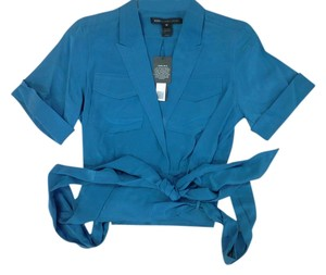 Marc by Marc Jacobs Capped Sleeves Sexy Bow Top Sapphire Blue