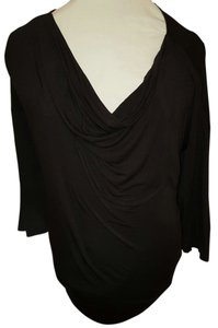 Lane Bryant Draped Stretchy Plus-size Top Black