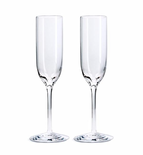 Item - Clear Champagne Flutes (Set Of 2)