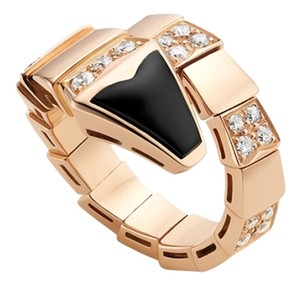 BVLGARI BVLGARI SERPENTI 18K ROSE GOLD DIAMOND RING AN855315 MEDIUM