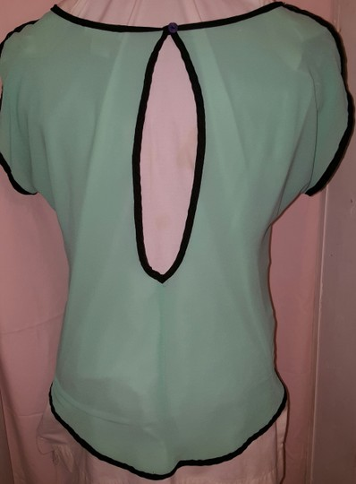 Body Central Sale >> Body Central Light Turquoise Blue Cute Top 80 Off Retail Hot Sale