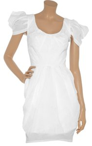 Mark & James by Badgley Mischka short dress White Ruffled Cotton Evening on Tradesy
