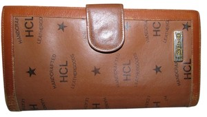 HCL Monogram Handcrafted Brown Leather Wallet Made in West Germany