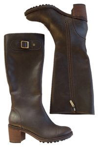 Hunter Leather Knee-high brown Boots